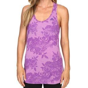 NWT Adidas Climalite Purple Floral Printed Tank